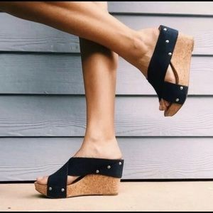 Lucky Brand Miller Cork Wedges Sandals